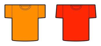 Un modello dei disegni delle due magliette Illustrazione Vettoriale
