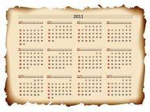un modello del 2011 calendario Immagine Stock Libera da Diritti