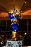 Un modello del carattere Thanos dai film e dai fumetti fotografie stock libere da diritti