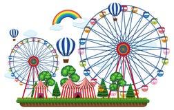 Un modello del circo su fondo bianco Fotografia Stock