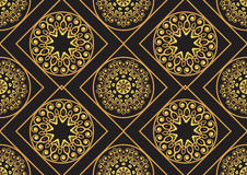 Un modello del seamlessl dell'oro per la carta o invito con Islam, Immagini Stock