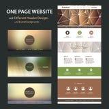 Un modello del sito Web della pagina e progettazioni differenti dell'intestazione con gli ambiti di provenienza vaghi Fotografia Stock Libera da Diritti