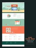 Un modello del sito Web della pagina in piano Immagini Stock Libere da Diritti