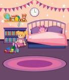 Un modello della camera da letto della ragazza illustrazione vettoriale