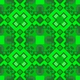 Un modello delle forme geometriche senza cuciture dalle forme differenti in tonalità verdi Per tappeto, carta da parati, imballan Immagine Stock