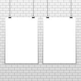 Un modello A4 di due manifesti illustrazione di stock