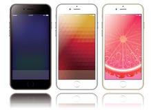 Un modello di due smartphones per le presentazioni ed il web design Fotografie Stock