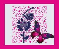 Un modello di farfalla molto bello illustrazione vettoriale