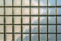 Un modello di glassbox nell'immagine della parete per fondo Immagine Stock