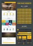 Un modello di progettazione del sito Web della pagina Immagine Stock