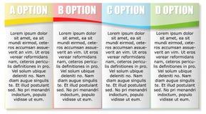 Un modello di quattro opzioni Immagini Stock Libere da Diritti