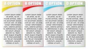 Un modello di quattro opzioni royalty illustrazione gratis