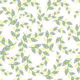 Un modello di ripetizione di piccole foglie Stampe per i tessuti di cotone in stile country Fotografia Stock Libera da Diritti