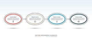 Un modello infographic di cronologia di 4 opzioni illustrazione di stock