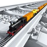 Un modello miniatura del treno Fotografia Stock