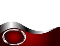 Un modello rosso-cupo, d'argento e bianco del biglietto da visita Fotografia Stock Libera da Diritti