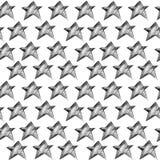 Un modello senza cuciture alla moda con le stelle in bianco e nero illustrazione vettoriale