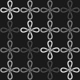 Un modello senza cuciture monocromatico con il nodo di virtù (un nodo cinese) Fotografie Stock
