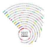 un modello a spirale di 2017 calendari Fotografie Stock Libere da Diritti