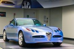 Un modello superbo di Romeo Nuvola Concept dell'alfa su esposizione al museo storico Alfa Romeo immagini stock libere da diritti