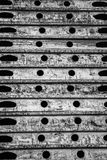 Un modelo blanco y negro abstracto de óvalos, de líneas y de círculos fotografía de archivo