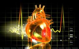 corazón 3D Fotografía de archivo