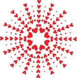 Un modelo de corazones rojos Fotografía de archivo libre de regalías