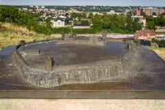 Un modelo de la fortaleza Tunsberg festning, Noruega de Tønsberg fotos de archivo libres de regalías