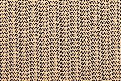 Rejilla de goma del cordón beige en un fondo negro Imagen de archivo libre de regalías