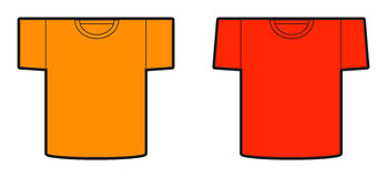 Un modelo de los diseños de las dos camisetas Foto de archivo libre de regalías