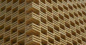 Un modelo de madera arquitectónico almacen de metraje de vídeo