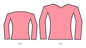Un modelo de un diseño de la camiseta de la mujer Fotos de archivo