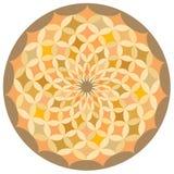 Un modelo decorativo circular. Imagen de archivo