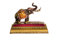 Un modelo del elefante en el fondo blanco Foto de archivo libre de regalías