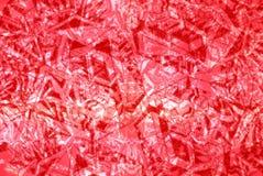 Un modelo en el fondo rojo Foto de archivo