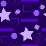 Un modelo inconsútil de diversos tipos de las formas, todas en púrpura, en diversas sombras Foto de archivo libre de regalías