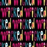 Un modelo inconsútil de palabras en inglés en el estilo de pintada ejemplo del vector de la calidad para su diseño ilustración del vector
