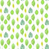 Un modelo inconsútil del fondo con las hojas del verde, entonadas Imagen de archivo libre de regalías