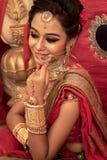 Un modelo indio joven hermoso no identificado foto de archivo libre de regalías