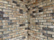 Un modelo o un interior del ladrillo es un estilo caliente para el interior de un desván Imagen de archivo libre de regalías