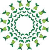 Un modelo simple circular de las peras y de las hojas Imagen de archivo