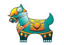Un modelo tailandés del caballo libre illustration