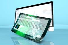 Un moderno tutto in un computer con un sito Web generico Fotografia Stock Libera da Diritti