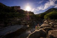 Un modo adorabile di luce dal fiume Fotografia Stock Libera da Diritti
