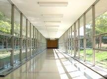 un modo di corridoio di vetro Immagini Stock Libere da Diritti