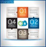 La carta modella il infographics di origami Fotografia Stock