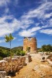 Un molino de viento viejo en Askos, isla de Zakynthos Fotografía de archivo