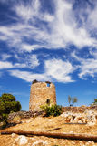 Un molino de viento viejo en Askos, isla de Zakynthos Imagenes de archivo