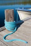 Un molo del lago Fotografia Stock