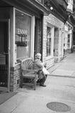 Un moment tranquille, rue du nord des syndicats, Lambertville, NJ Photo stock